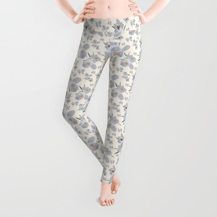 crocus-flower-0fg-leggings